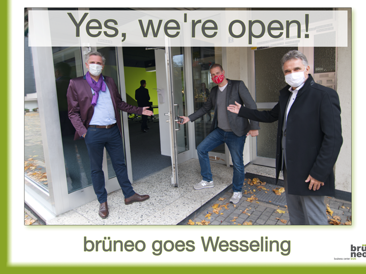 Yes, we´re open – Coworking Space in Wesseling ist eröffnet.